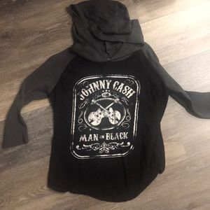 Johnny Cash shirt with hood